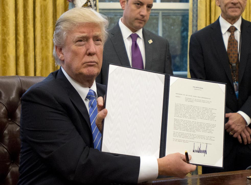Mr Trump's executive order also suspended the United States' entire refugee program (Getty Images)