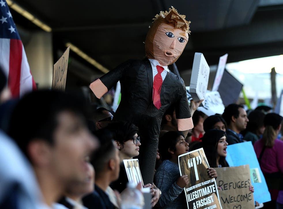 Protesters at LA International Airport vocally expressed their disapproval of Donald Trump following his executive order banning refugees from seven countries