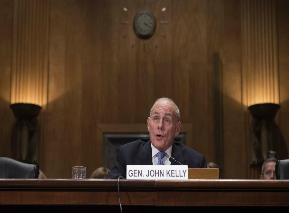 Trump nominated Kelly to become head the Department of Homeland Security, a cabinet-level position