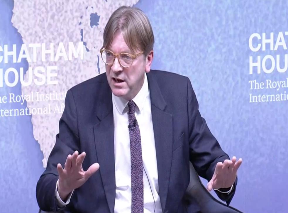Guy Verhofstadt speaking in London