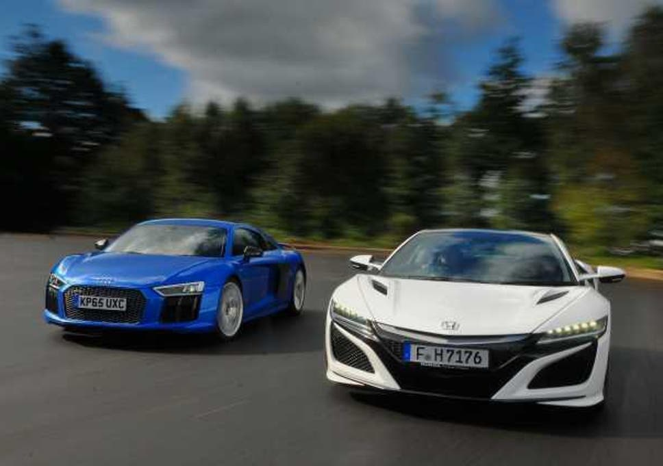 Supercar Shootout Honda NSX Vs Audi R The Independent - Audi super car