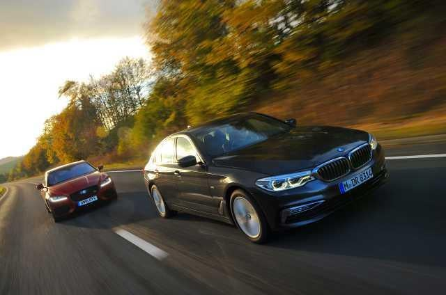 How does the BMW 530d match up against the Jaguar XF V6 Diesel?