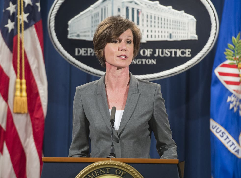 Ms Yates speaks at a press conference in July 2016