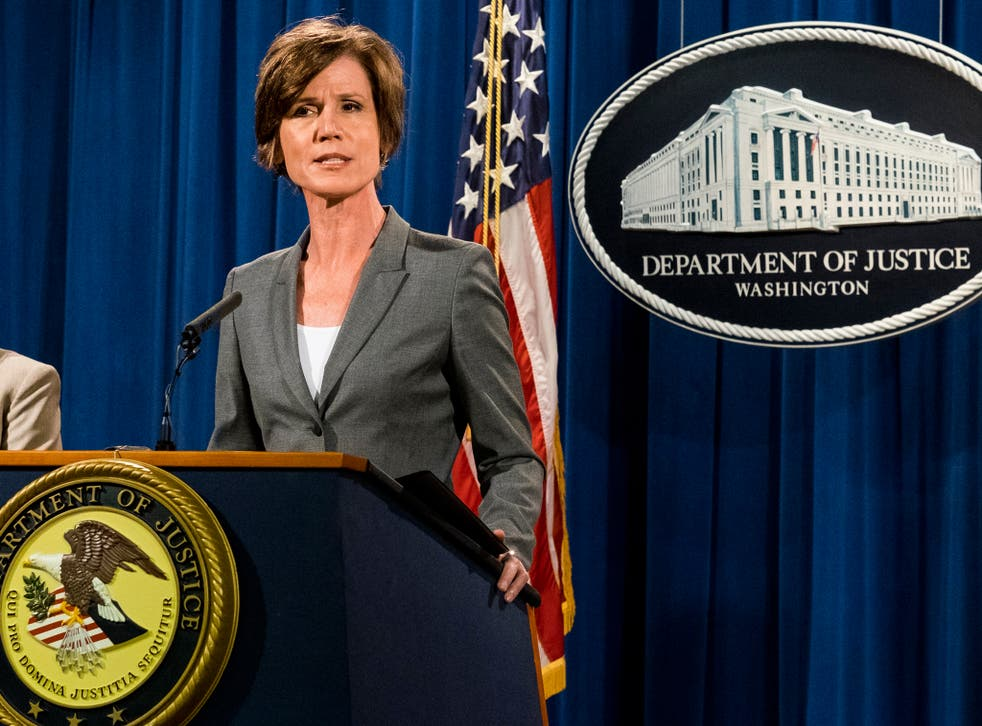 Ms Yates speaks at a June 2016 press conference