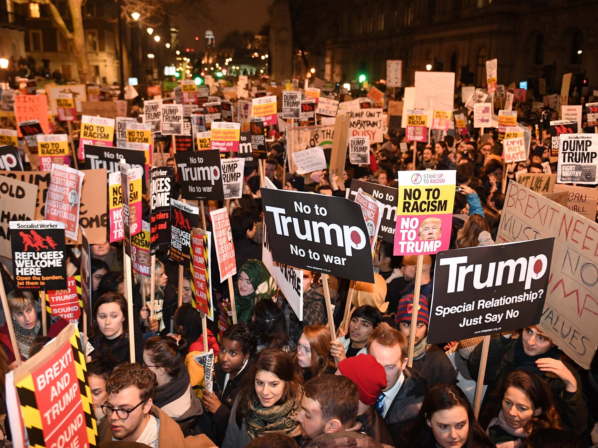 Uk muslims press for peace at 10 downing street - Thousands Descend On Downing Street Amid Global Protests At Donald Trump S Travel Ban The Independent