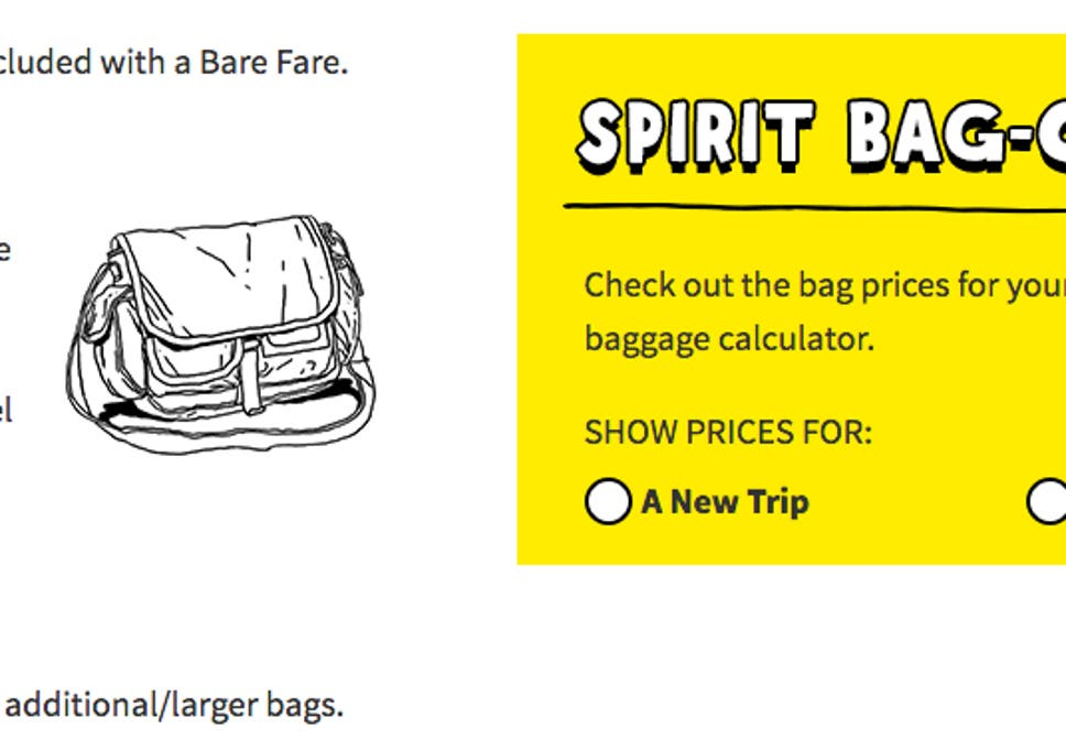 5ee3a7a4da Spirit Airlines  Major US budget carrier reduces size of free carry-on bags