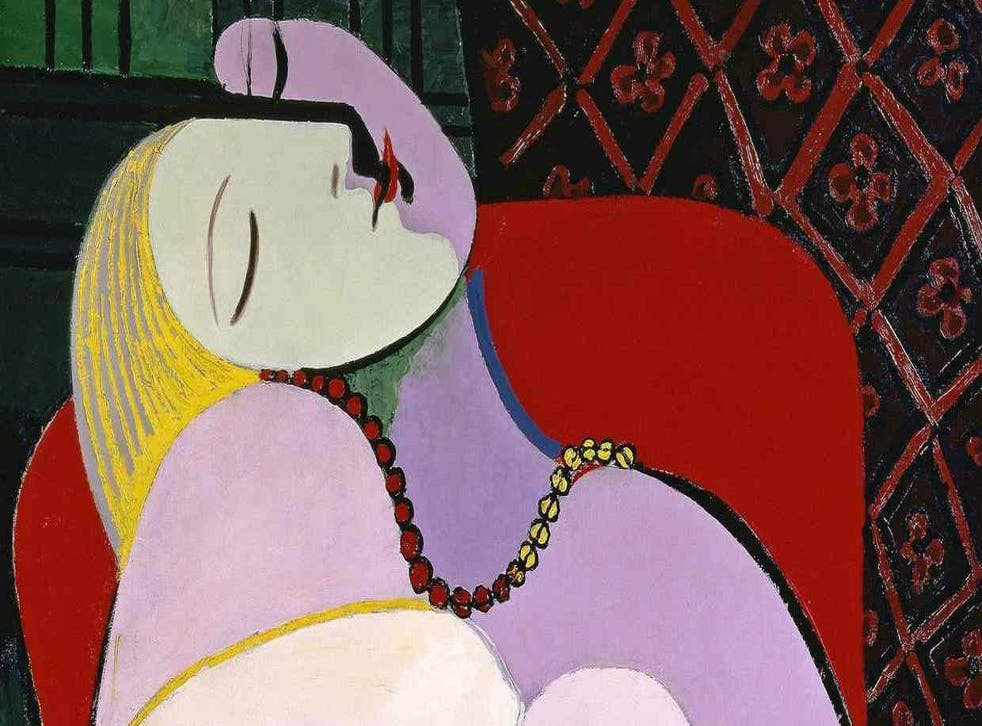 Part of Picasso's erotic, desire-filled painting Le Rêve (The Dream) of his lover Marie-Thérèse Walter