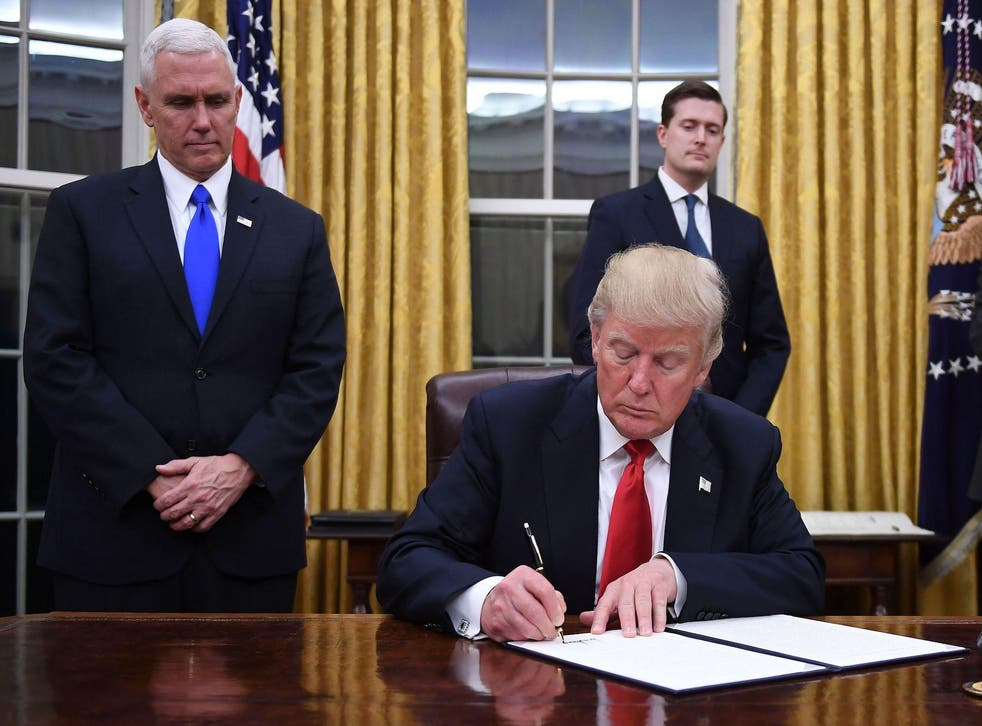 The US President has signed a wave of executive orders since taking office last month