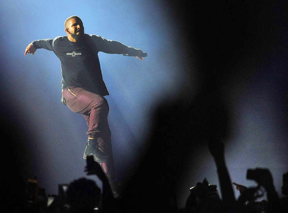 Drake performs live on stage at The O2 Arena in London