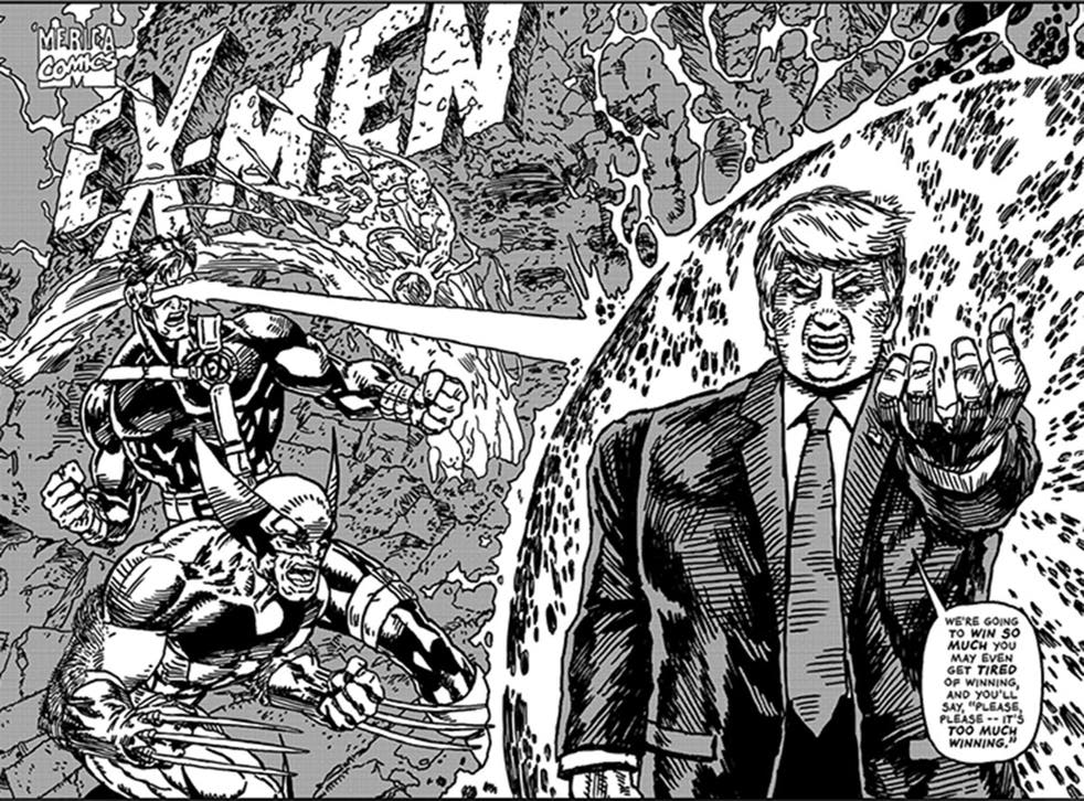 President evil: the new Commander in Chief spouts bombast that even the most trashy comic-book hack might balk at putting into the mouth of a made-up bad guy