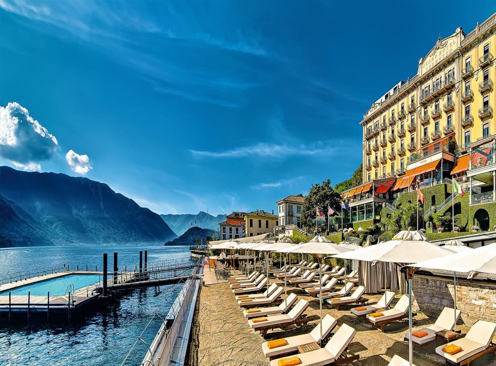The luxurious Grand Hotel Tremezzo sits right by Lake Como