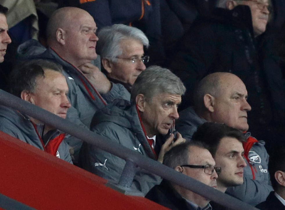 Wenger was serving the second of his four-game touchline ban