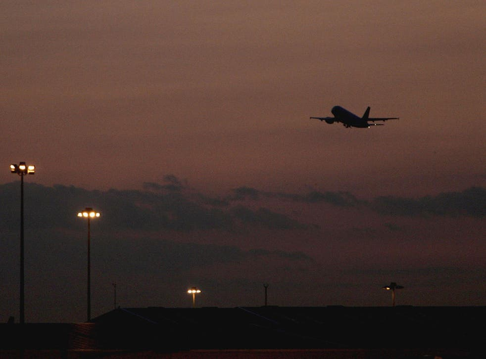 Charter flights forcibly removing immigrants from the country take off late at night from Stansted Airport