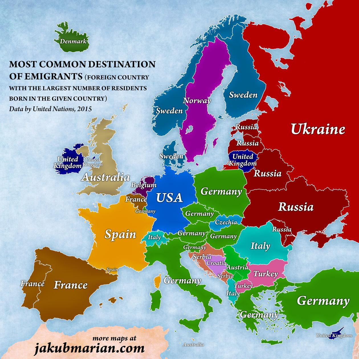 Map Of Europe Showing Italy.A Map Of Europe According To The Number Of People Living Abroad