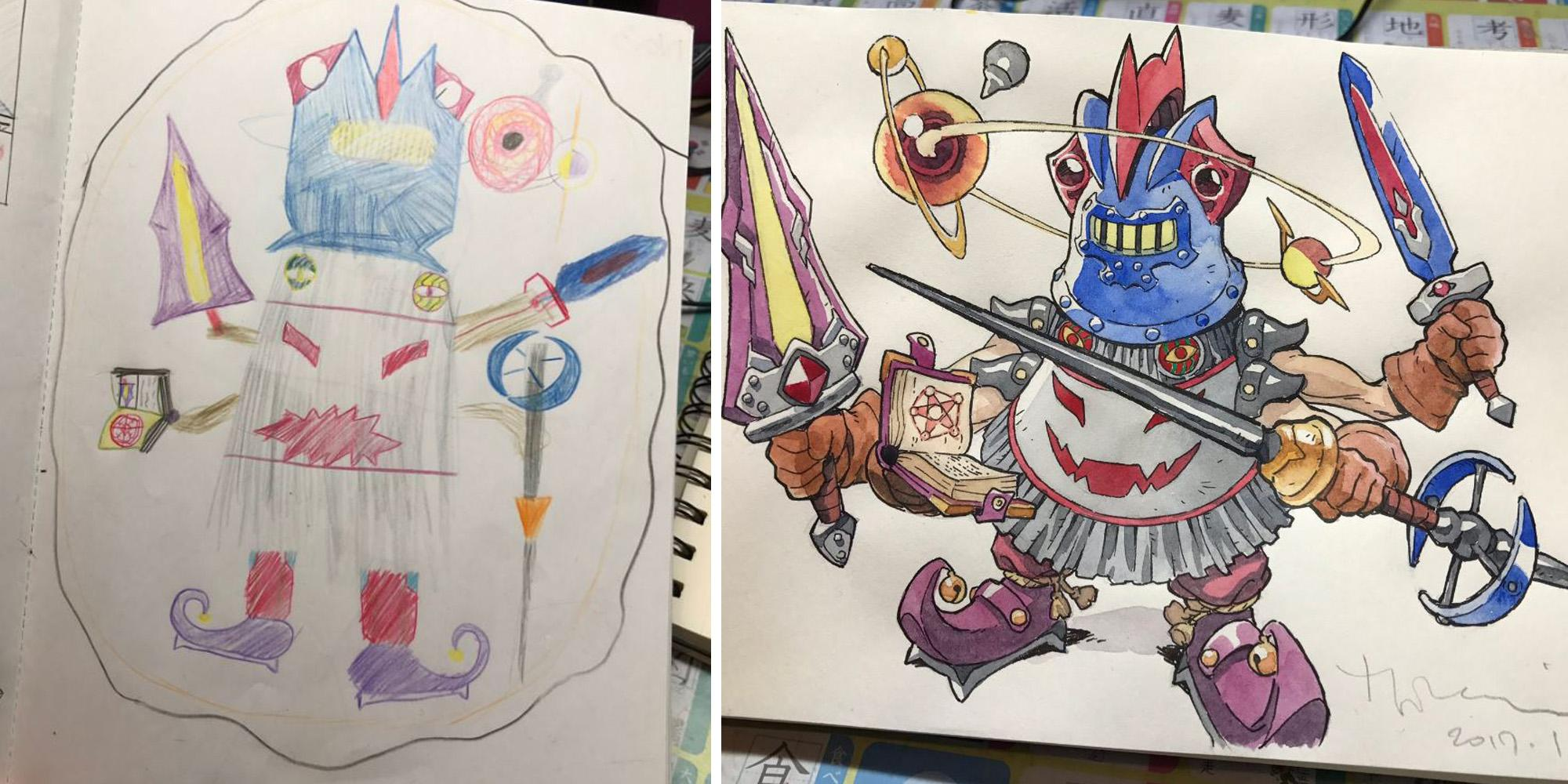 how to turn drawings into digital art