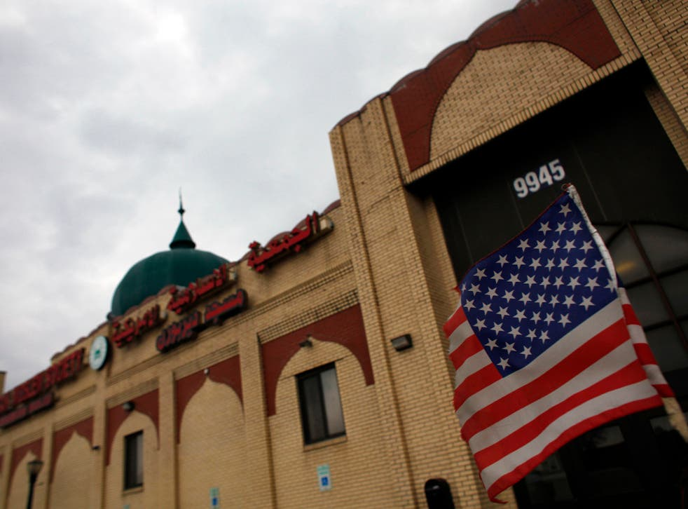 Detroit-based Imam Husham Al-Hussainy said prayers were said for the mother of Mike Hager at the Karbalaa Islamic Educational Center in Dearborn