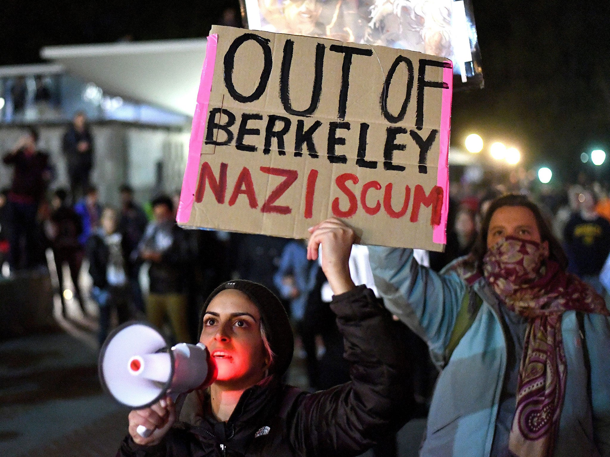 Image result for berkeley students protest violence