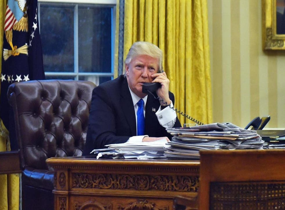 Trump on the phone to Turnbull