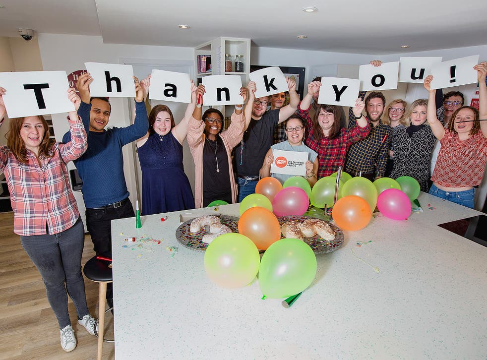 The total raised by the Homeless Helpline Appeal has now passed £3m - prompting celebrations at Centrepoint