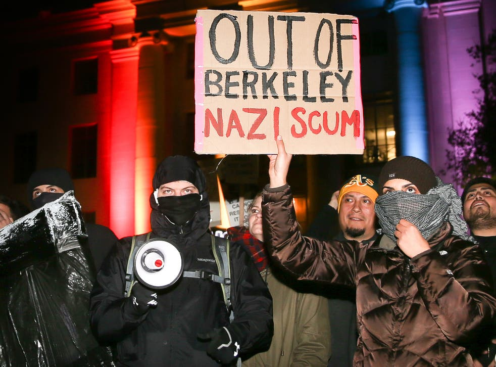 Students protest at UC Berkeley