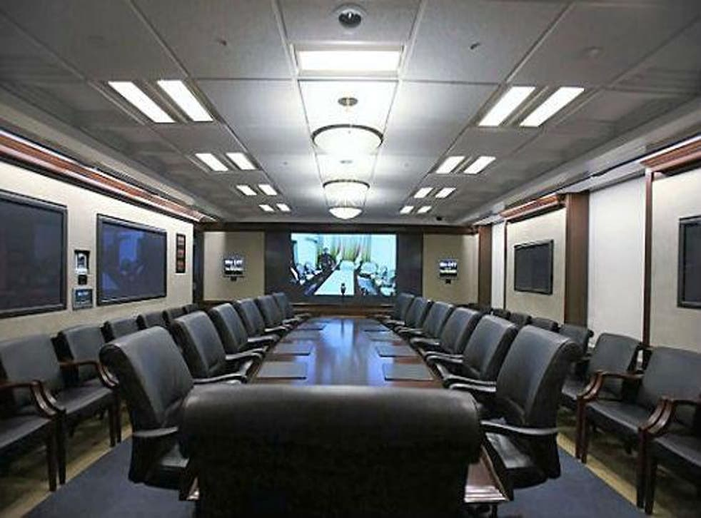 Mr Trump was in the White House residence, rather than the Situation Room