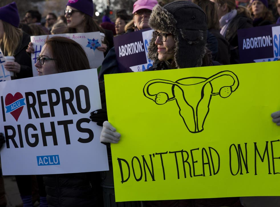 Pro-choice campaigners rally in defence of abortion rights