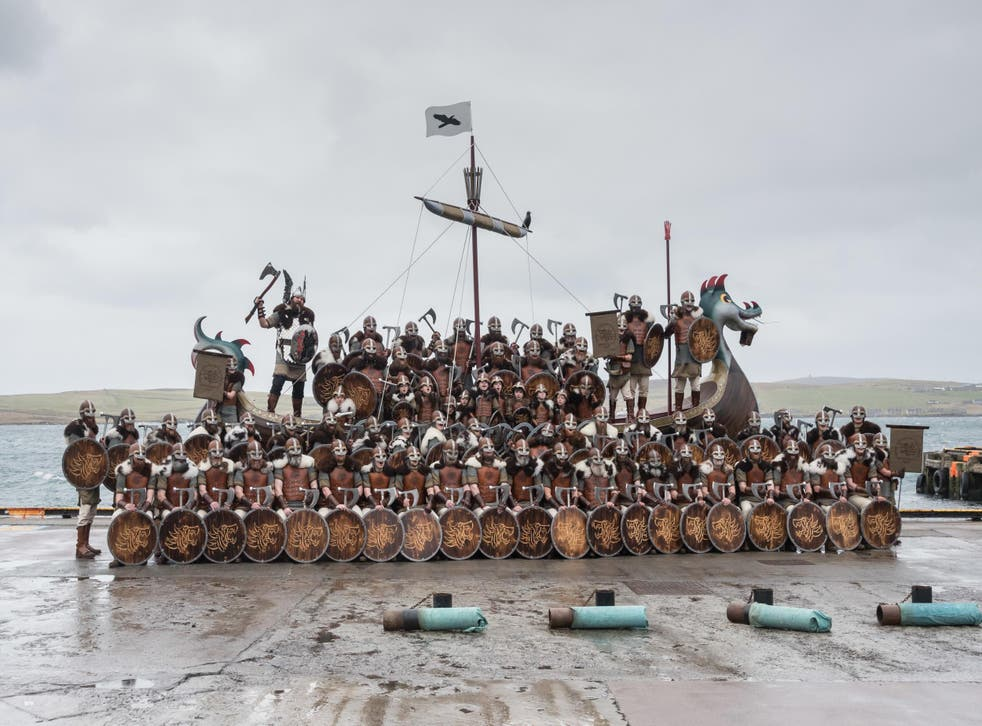 The Vikings of Shetland get into formation