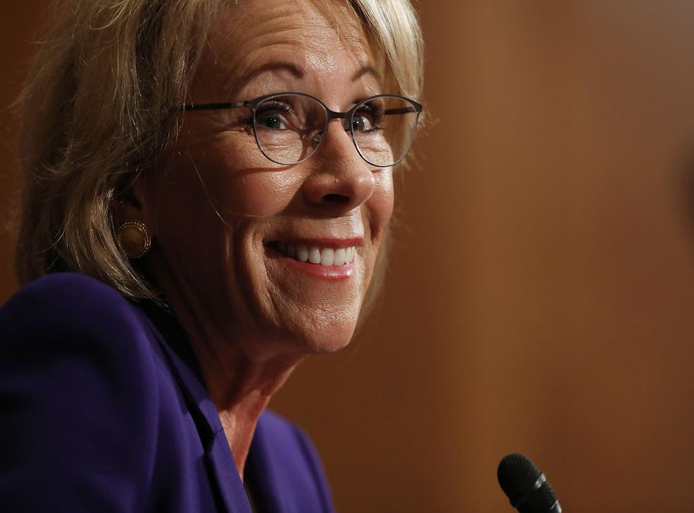 Ms DeVos is pro-school choice, which could divert federal funds from free schools