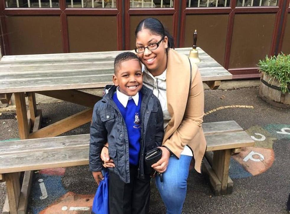 Claudette Shay, seen here with her son, went from homeless and pregnant to working for one of the world's top law firms