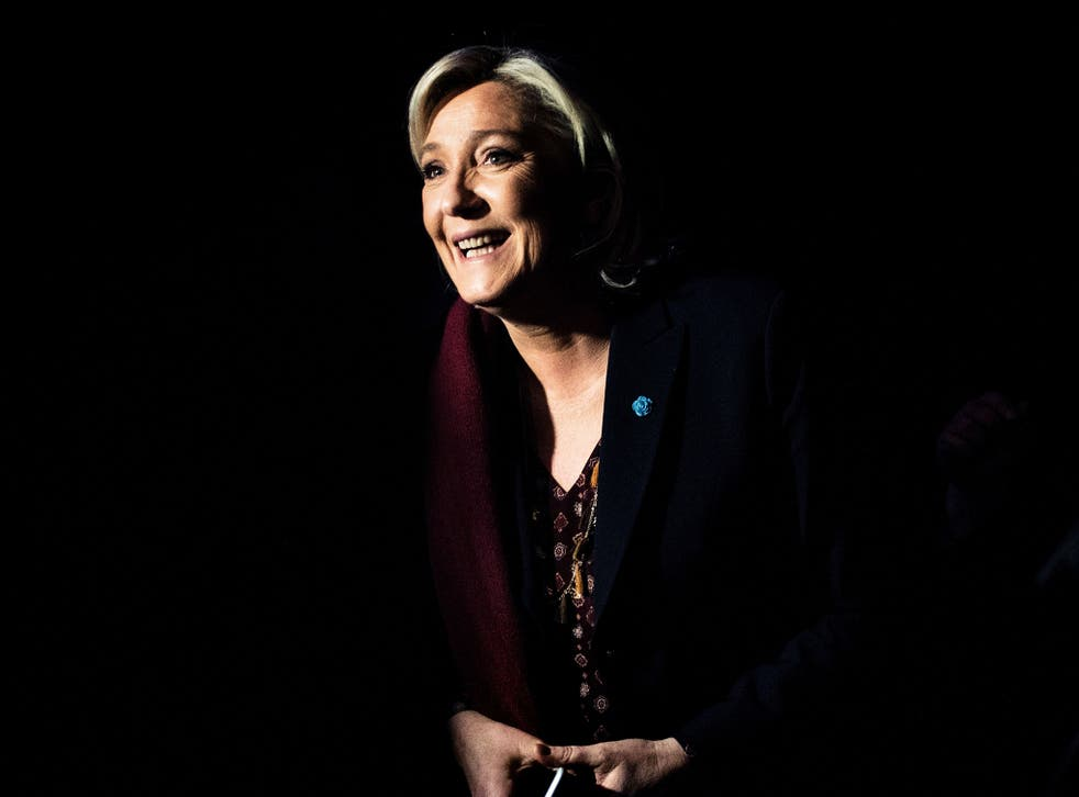 French presidential election candidate Marine Le Pen attends a two-day political rally to kick off her presidential campaign in Lyon on 4 February