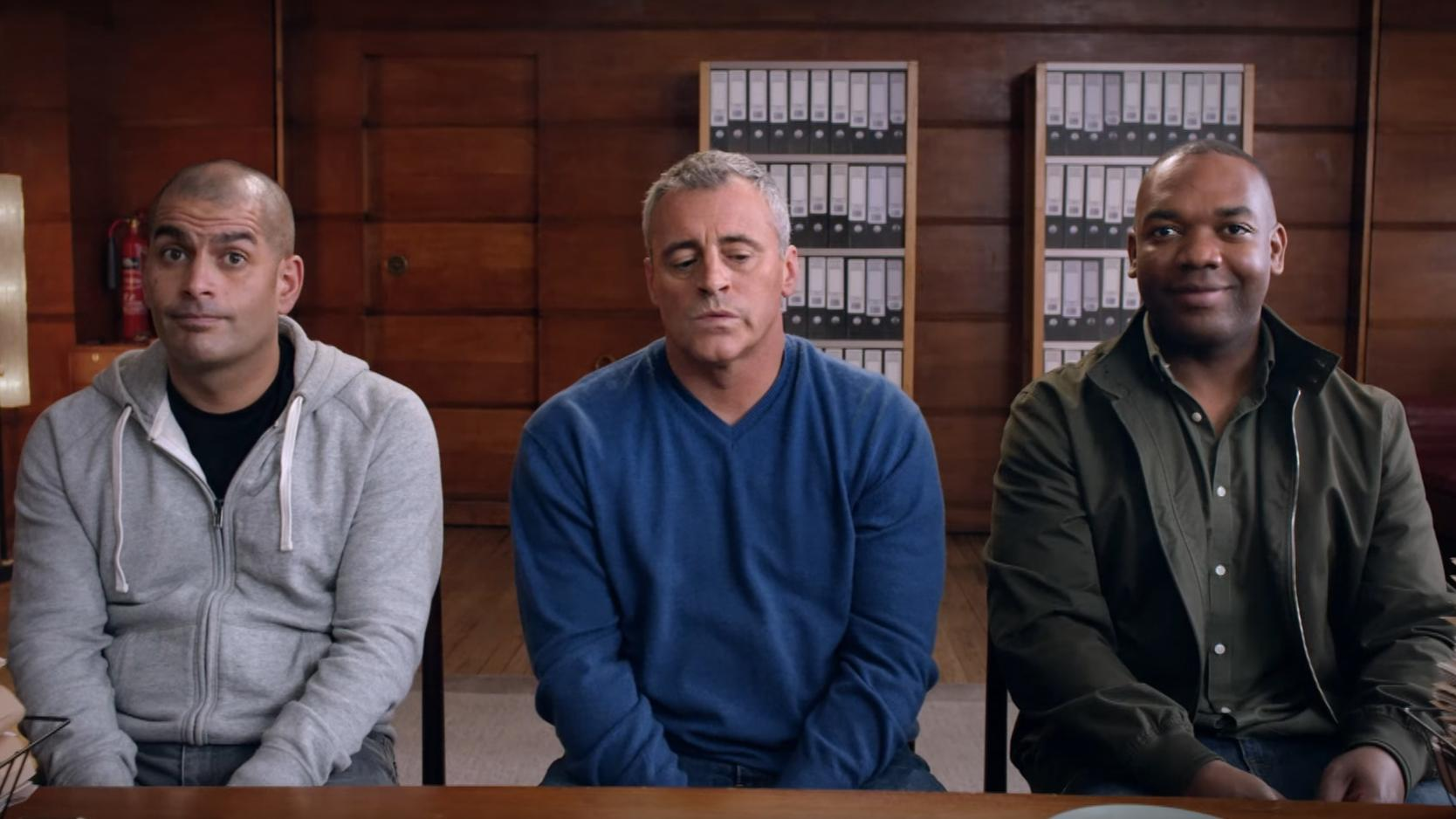 top gear trailer first look at matt leblanc rory reid and chris harris as new hosts the. Black Bedroom Furniture Sets. Home Design Ideas