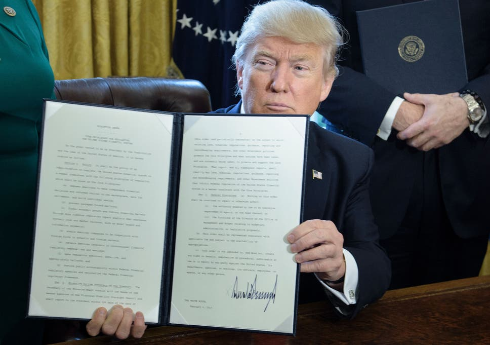 Donald Trump's executive order to roll back Dodd-Frank is