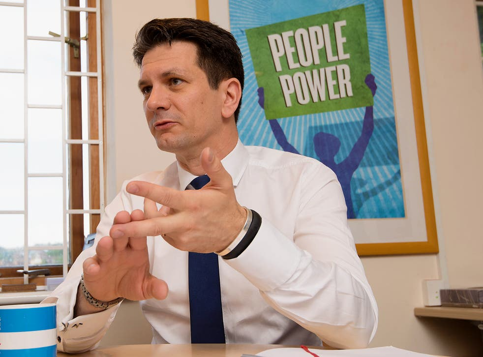 Conservative MP Steve Baker at his High Wycombe office