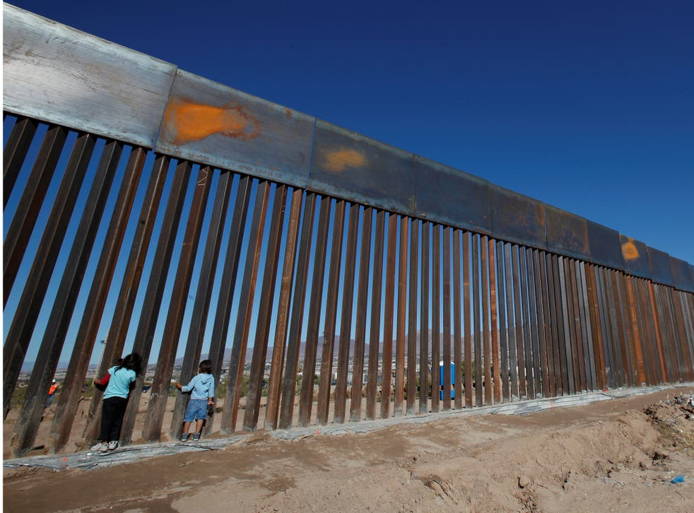 Building a wall along the Mexican border was one of Mr Trump's major campaign promises