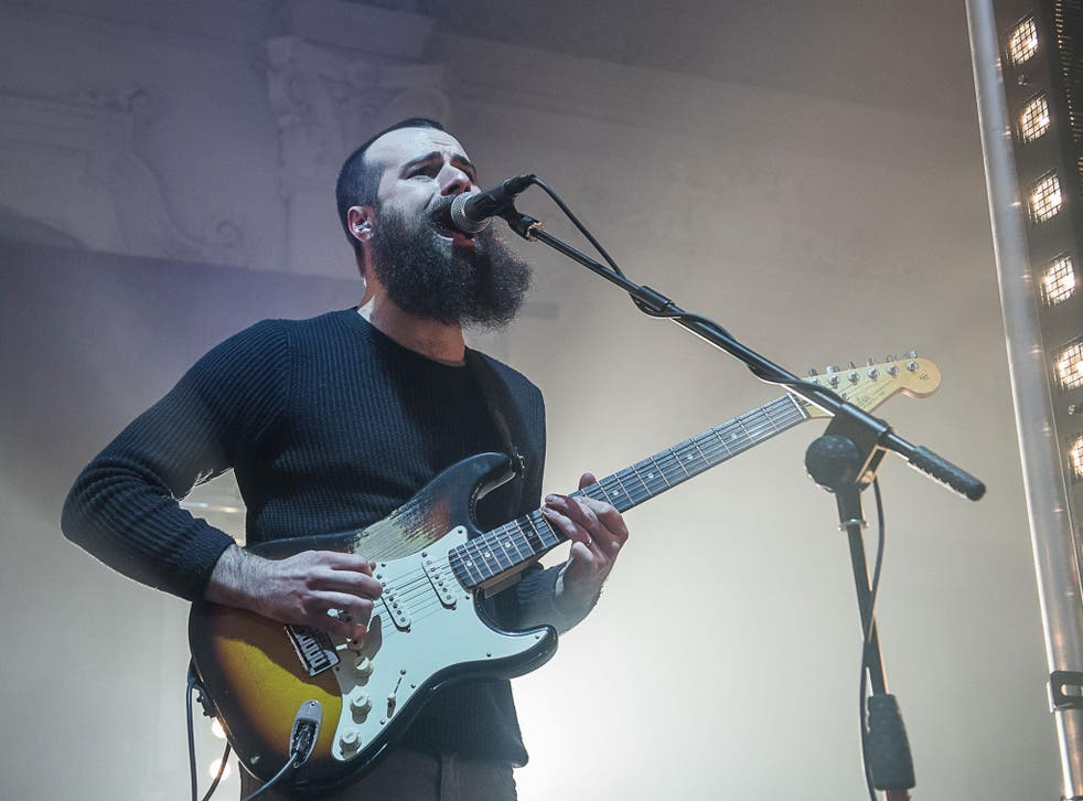 Andrew Groves of Arcane Roots performing on stage at Bush Hall, 2nd February 2017