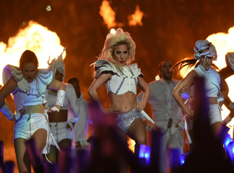 Singer Lady Gaga performs during the halftime show of Super Bowl LI at NGR Stadium in Houston, Texas