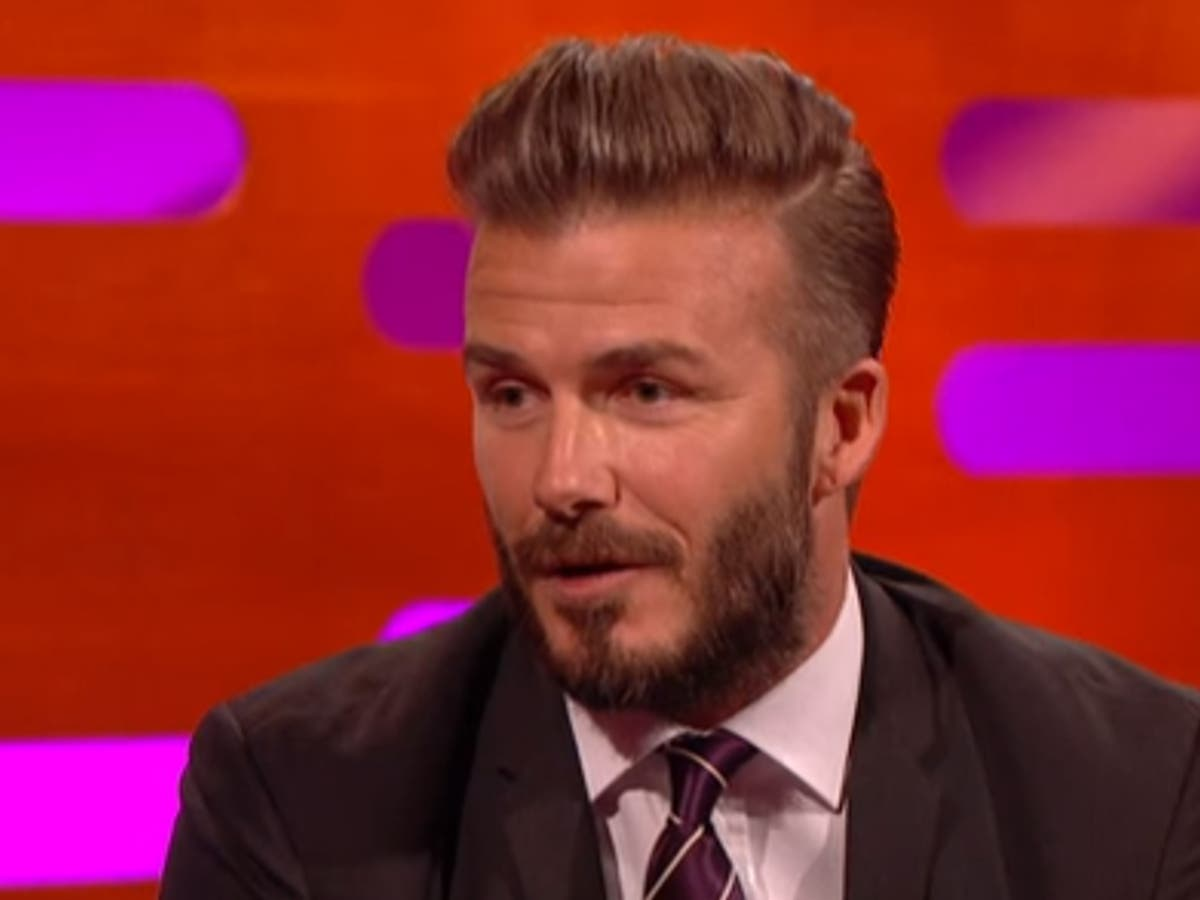 David Beckham Asked For A Private Jet To Go On Graham Norton Show The Independent The Independent