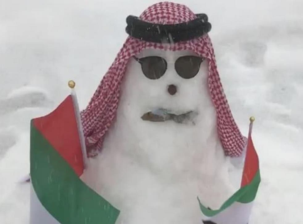 The heaviest snowfall since 2009 was greeted as an opportunity for fun by locals in mountainous Ras Al Khaimah