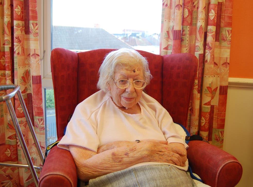 Iris Sibley, 89, spent six months in a hospital ward