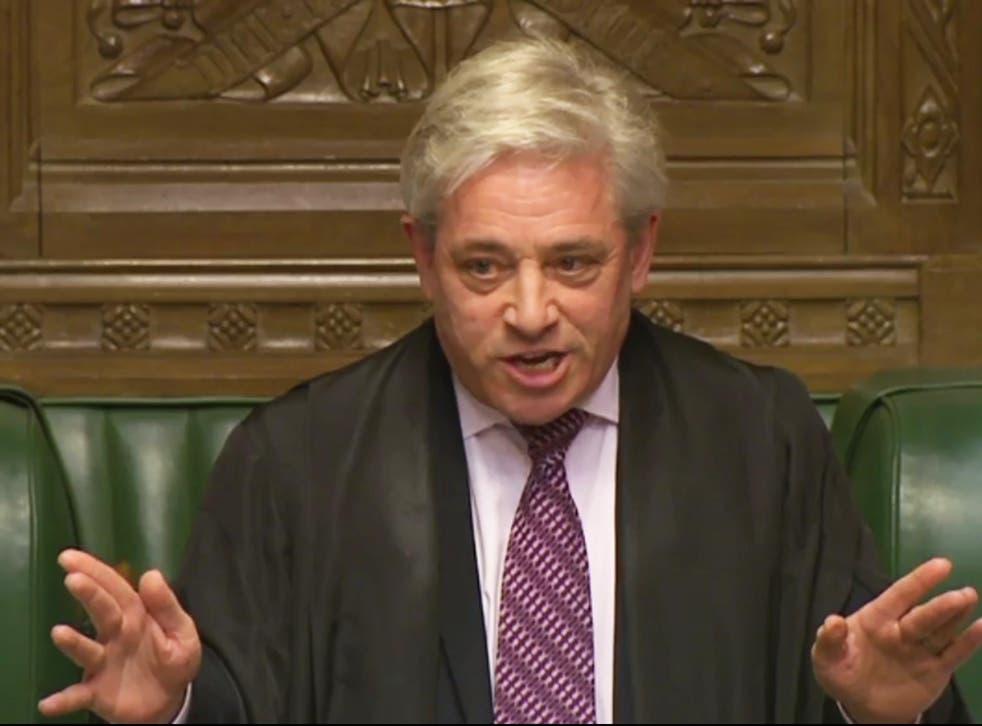 Speaker John Bercow relaxed rules this week