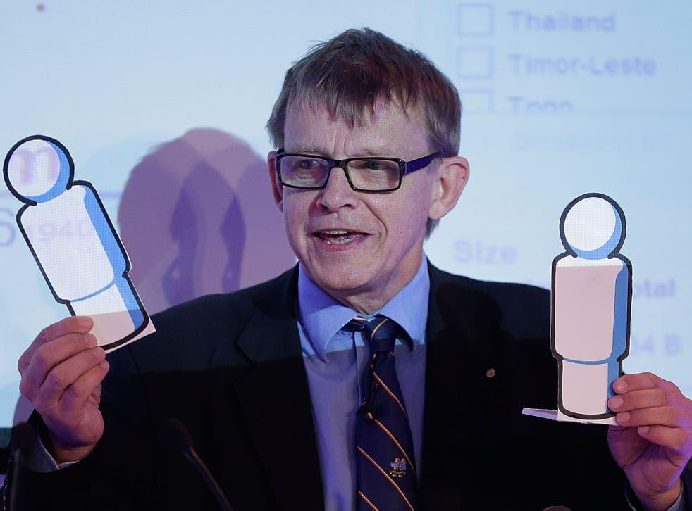 Hans Rosling, Statistician & Founder of Gapminder, pictured in 2012