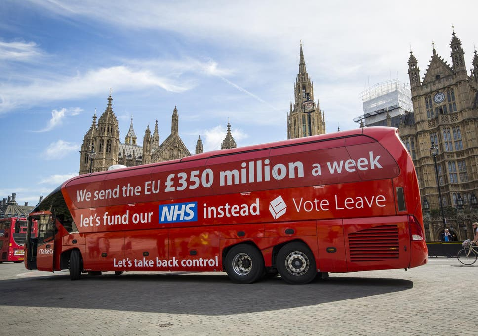 7c8fdf6a9a4 Brexit  Vote Leave chief who created £350m NHS claim on bus admits leaving  EU could be  an error
