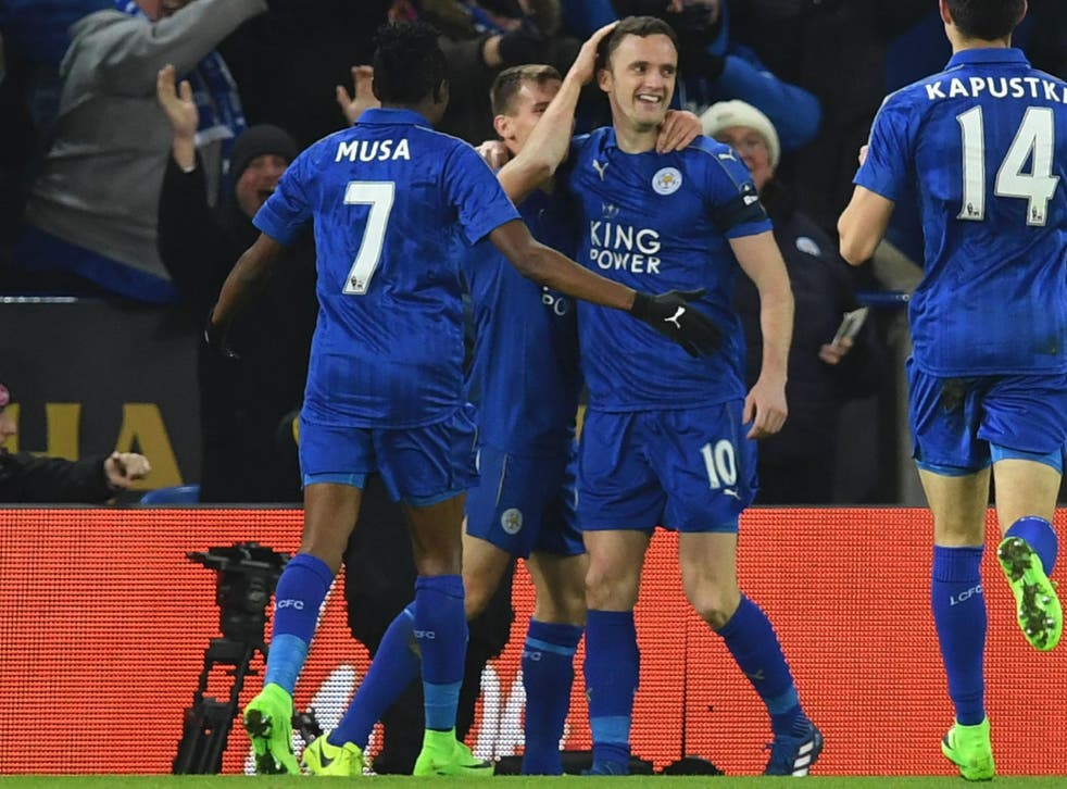 Andy King opened the scoring for the Foxes