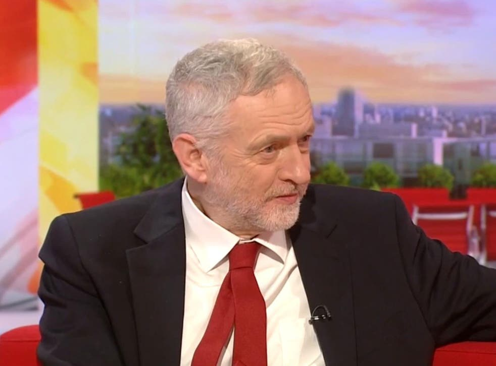 Corbyn accused the BBC of reporting 'fake news' when challenged on resignation rumours