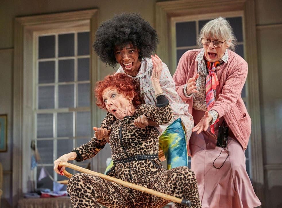 Sheila Reida (Gloria), Keziah Joseph (Hope) and Rachel Davies (Maureen) in Silver Lining' at the Rose Theatre