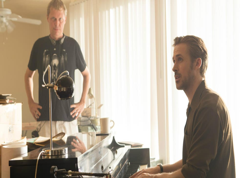 Marius de Vries on the La La Land set with star Ryan Gosling