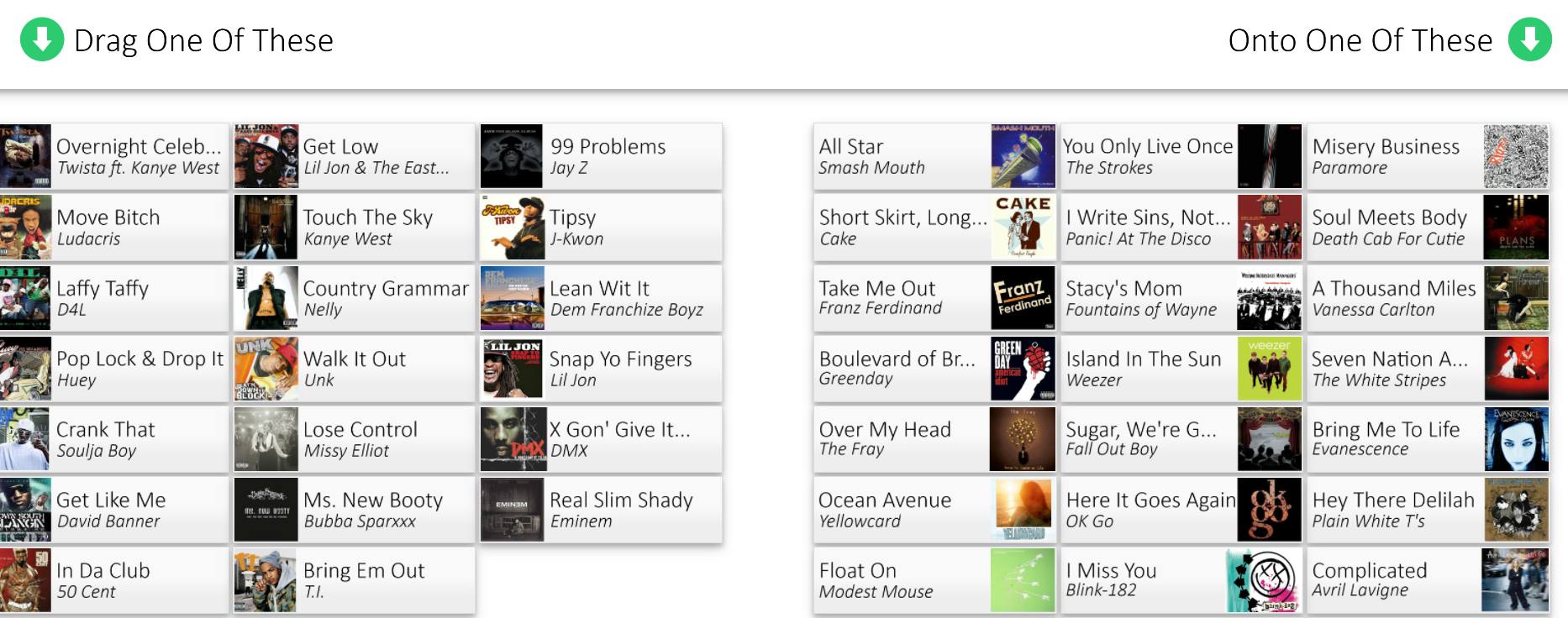 The Magic iPod website lets you mash-up songs that shouldn't
