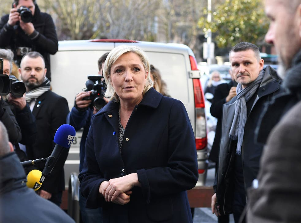 The National Front leader will go through to the presidential runoff, according to polls