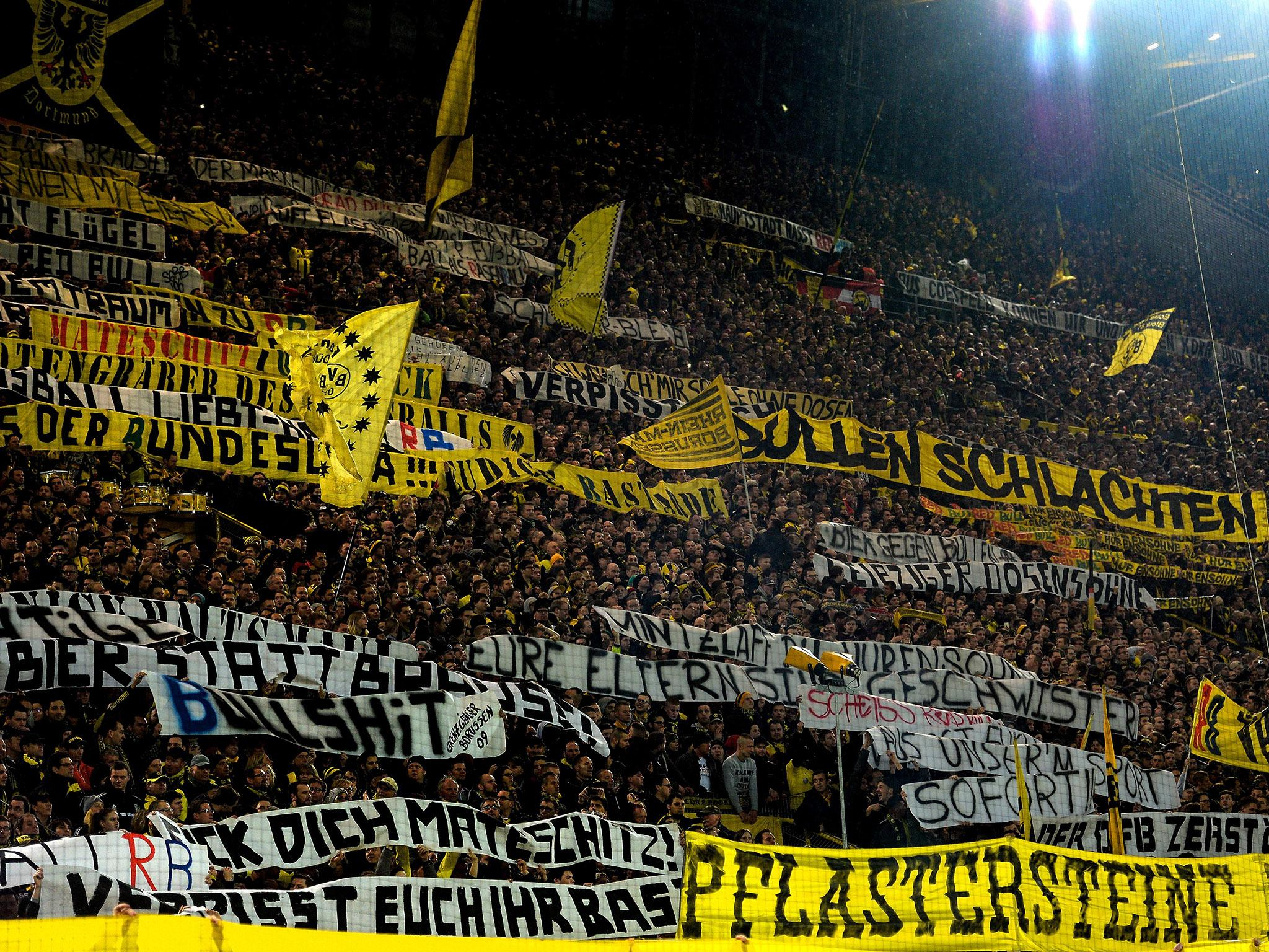 Borussia Dortmund Face Huge Fine And Yellow Wall Closure After Rb Leipzig Crowd Trouble The Independent The Independent