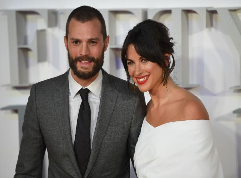 Jamie Dornan with his wife, actress Amelia Warner, at the UK premiere of Fifty Shades Darker in February 2017